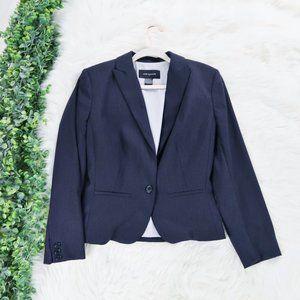 Ann Taylor Suit Jacket Dark Gray Button Blazer 10